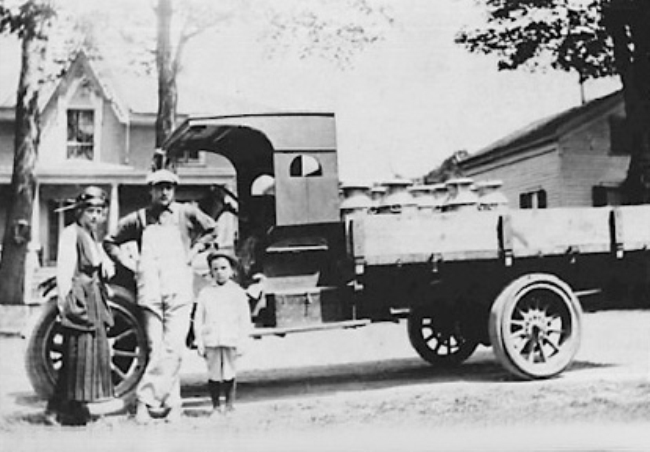1916 - Charles A. Terpening begins hauling cream in cans from local farms doing business as C.A. Terpening Trucking Company.