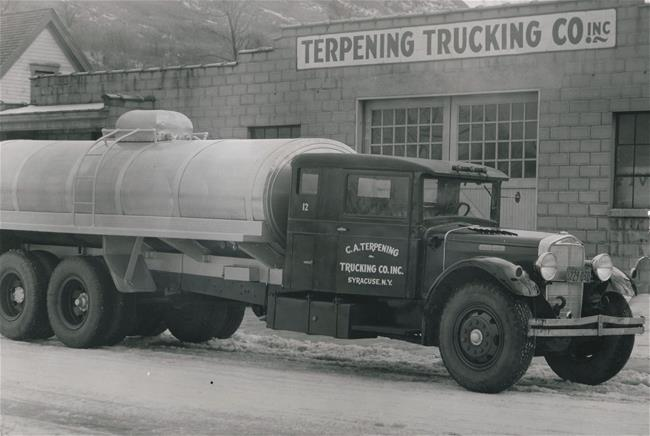 1938 - A year of change! Terpening purchases Getney Dairy in Solvay, NY, while at the same time further expanding their business to include petroleum transportation.